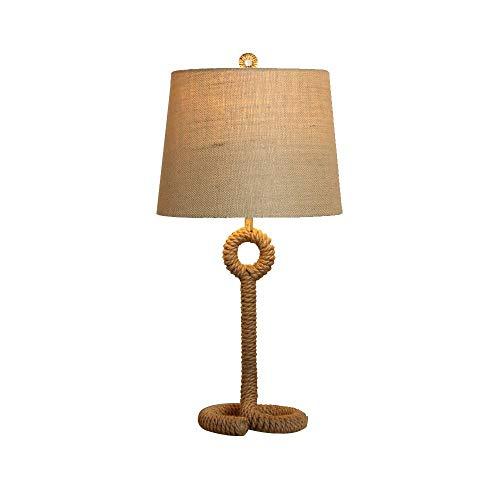 RUINAIER Bedroom Bedside Lamp Decorative Lighting Decorative Lighting Table Lamps Set Beige Linen Drum Shade for Living Room Family Bedroom Bedside lamp 73cm - Regency Hill