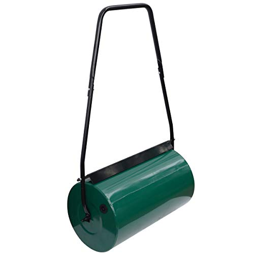 Denny International Garden Lawn Metal Aerator Water Sand Filled Manual Grass Roller
