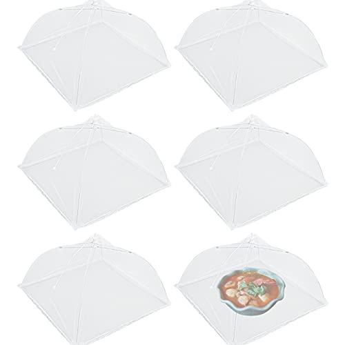 TUAKIMCE Juego de 6 Cubierta para Alimentos Comida Cubierta Protectora Cubierta de Malla Protección Moscas Mosquitera Comida Desplegable Cubre Platos Fresca para Cocina Picnics al Aire Libre