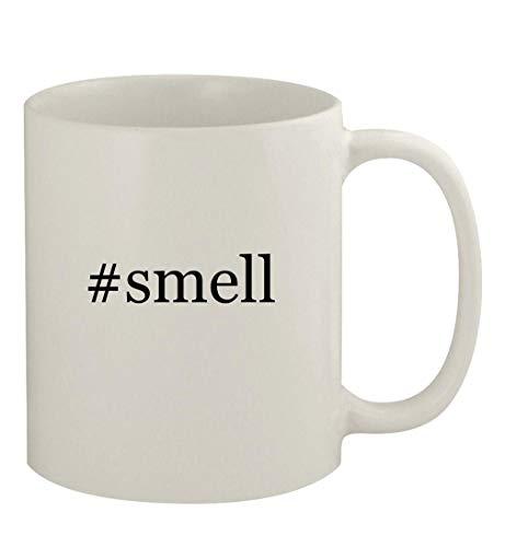 #smell - 11oz Ceramic White Coffee Mug, White