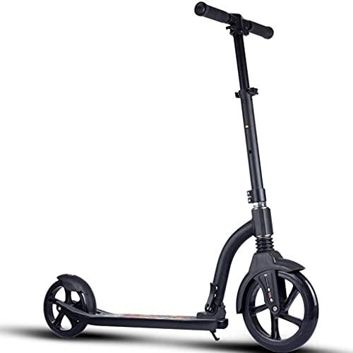 AXQQ Scooter, Scooter de Patada de Ruedas Grande, Scooter Adolescente con la suspensión de la Correa de Freno, Scooter de Patada Plegable, Carga 220lb, Scooter de Patada Plegable (no eléctrico)