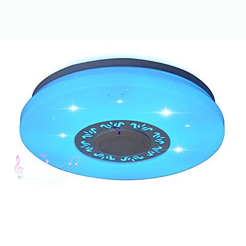 SDlamp Control Remoto Y Aplicación 36W RGB Lámpara De Techo De Música Regulable, WiFi Modern Minimalist Study Dormitorio Lámparas, para El Colgante De La Habitación De Los Niños