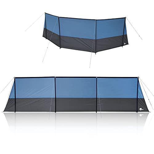 your GEAR Windschutz Levante 600 Stabiler Sicht- und Sonnenschutz mit Querstangen 600x140 cm Camping Strand Garten