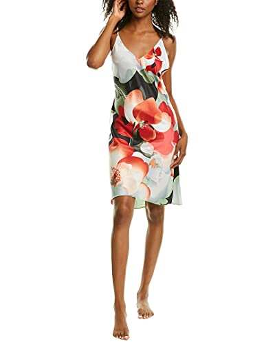 Natori Damen Exotic Poppy Slip Nachthemd, Keramik Grün, Large
