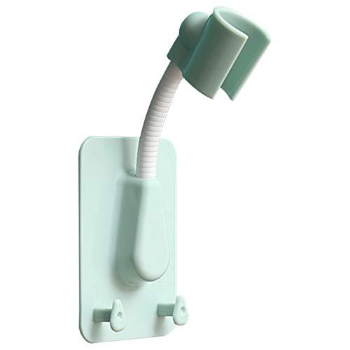 GuanRo Soporte de Cabezal de Ducha de 360 ° Soporte de Cabezal de Ducha Autoadhesivo Ajustable Montaje de Pared con 2 Ganchos Stand SPA Baño Universal ABS 1pc (Color : Verde)