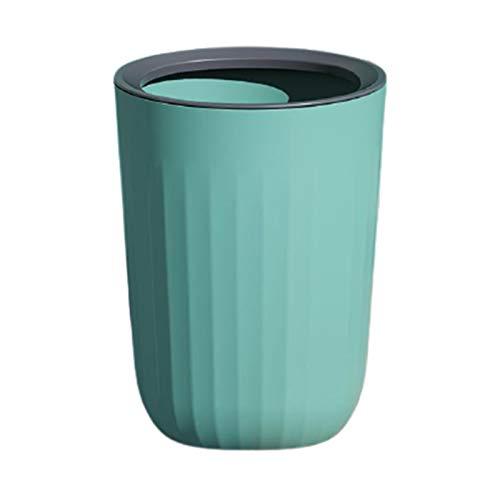 Sundos Bote de basura hogar linda niña dormitorio sala de estar creativa gran canasta de papel higiénico, color: azul turquesa, tamaño: 24 * 31.5 cm, material: pp