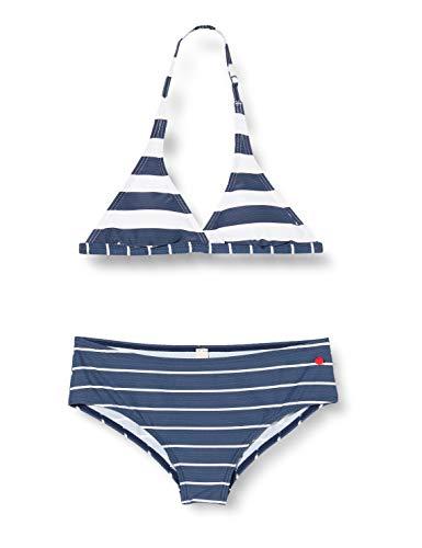 ESPRIT NORTH BEACH YG neckholder+hipster short Bikini-Set, Mädchen, Blau 164