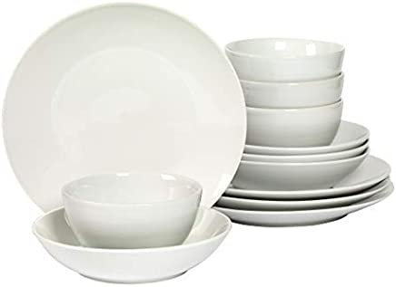Denmark 12-Piece White Dinnerware Set