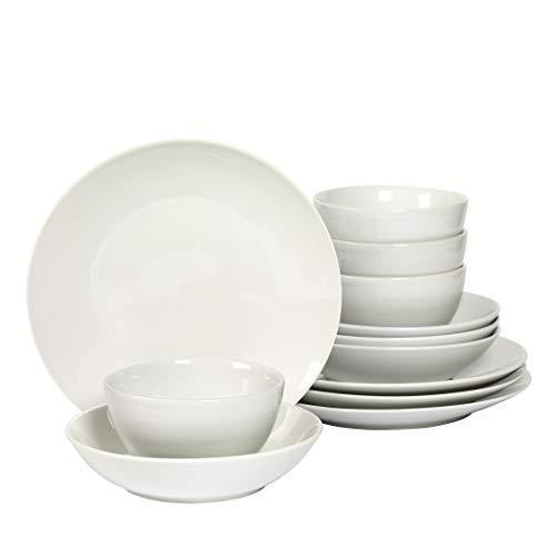 Denmark 12 Piece White Dinnerware Set
