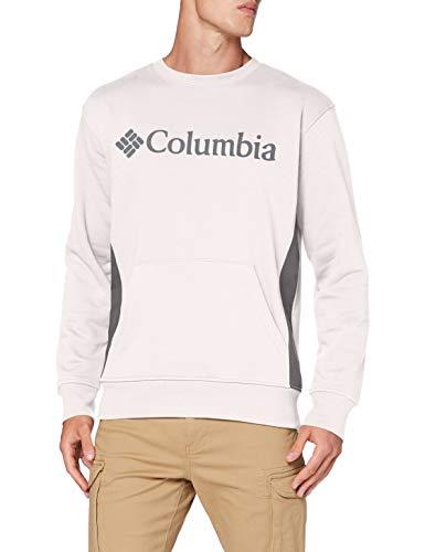 Columbia Minam River Suéter con Cuello Redondo, Hombre, Gris (Nimbus Grey Heather, City Grey), XXL
