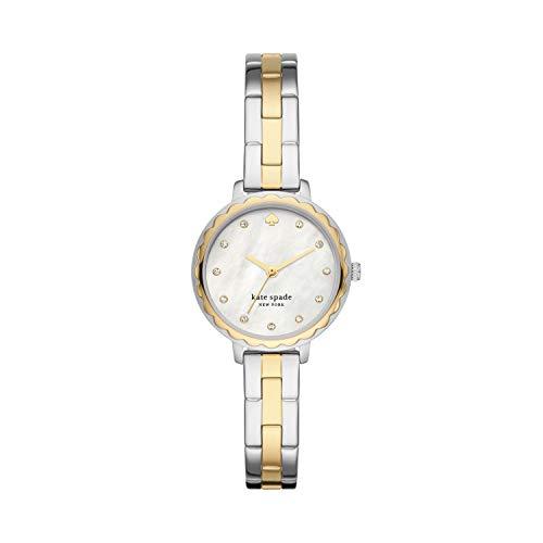 Kate Spade New York Women's Morningside Quartz Watch with Stainless Steel Strap, Two-Tone, 10 (Model: KSW1689)