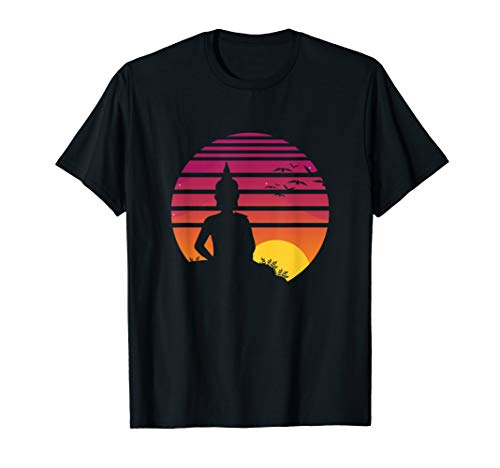 Retro Travel Thailand Great Golden Buddha Statue Traveling T-Shirt