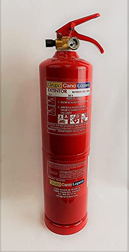 Grupo Cano Lopera | Extintor Universal Polvo Seco ABC con Capacidad de 3 Kg | Homologado | Eficacia 13A - 89B | Útil para Casa - Caravana - Oficina - Restaurante | Incluye soporte para Pared