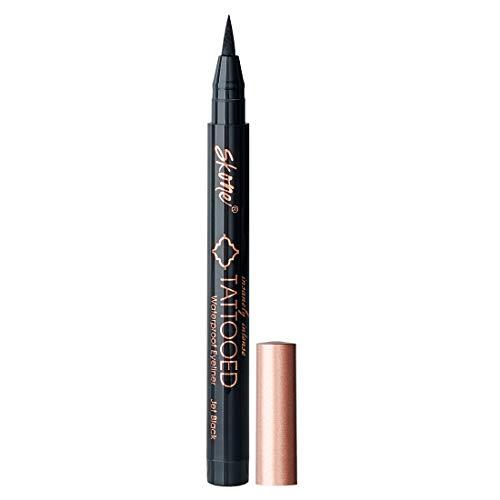 Skone Cosmetics | Insanely Intense Tattooed liquid Eyeliner | Felt Tip Applicator | Waterproof | Smudge proof | Sweat Proof | long lasting formula | Color - Jet Black