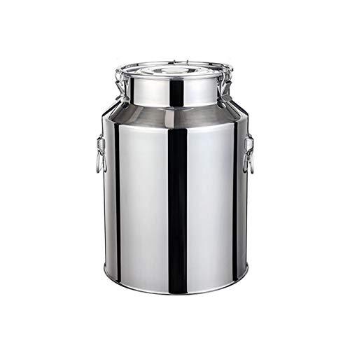 Oven Acero Inoxidable Leche Puede, Transportable Leche Fermentación en Barrica Cubo de la Leche Tanque Puede con Tapa Sellada (tamaño : 14L)