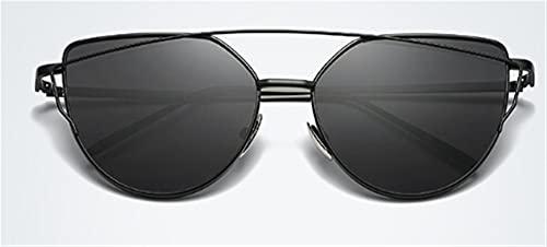 JIANCHEN Gafas de Sol Vintage Damas Ojo Gafas de Sol Gafas de Sol Mujeres Hombres diseñador de Rosa Oro Haz de gemelas Gafas de Sol para Mujer (Color : 2)