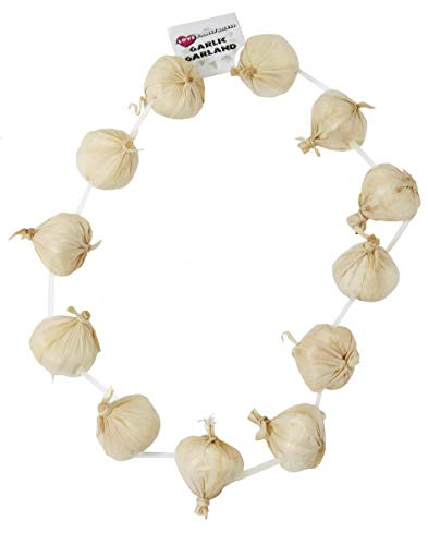 ONION GARLIC GARLAND NECKLACE FRENCH OR VAMPIRE SLAYER FANCY DRESS BASTILLE DAY - PACK OF 1