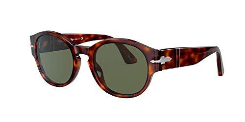Persol Unisex 0PO3230S Sonnenbrille, Havana/Green, 52