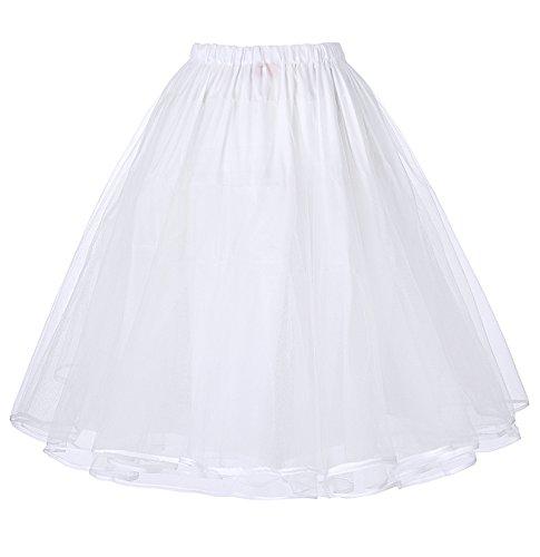 50s Vintage Petticoat Unterrock Petticoat Weiss - 2
