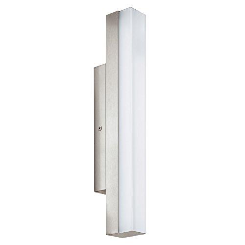 EGLO TORRETTA Spiegelleuchte, Stahl, Integriert, 8 W, Länge 35 cm, nickel-matt
