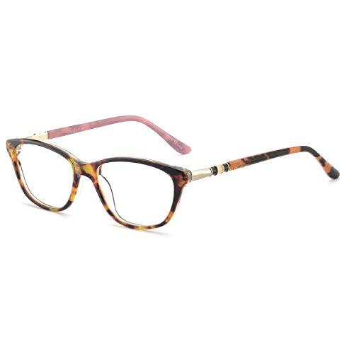 OCCI CHIARI New Rectange Colorful Eyewear Frame With Clear Lens For Womens (Pink, 50)