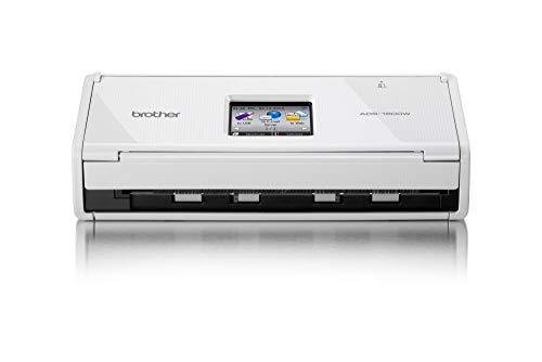 Brother ADS1600W Scanner Compatto con Rete Wireless, 18 ppm, ADF da 20 Fogli, Dual CIS per Scansione Fronte/Retro Automatica (Ricondizionato)