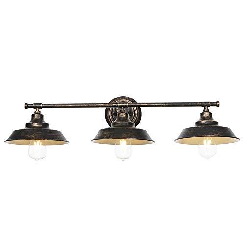 Lámparas de pared de 3 luces, lámparas de tocador de interior vintage...