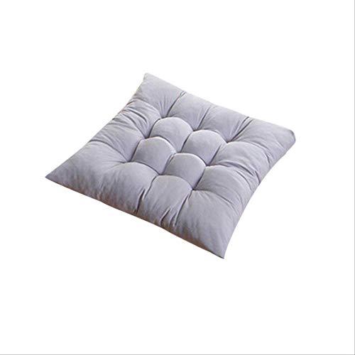 NoNo effen vierkant zacht verdikt zitkussen kussen eetkamer vloer kussen stoel kussen mat huis decoratie 50x50cm grijs