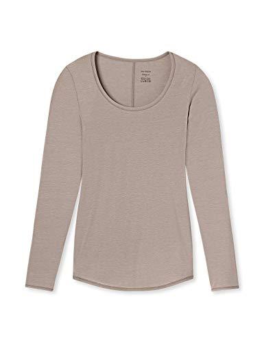 Schiesser Damen Personal Fit Shirt 1/1 Arm Unterhemd, Braun (Braun 300), 38 (Herstellergröße: M)