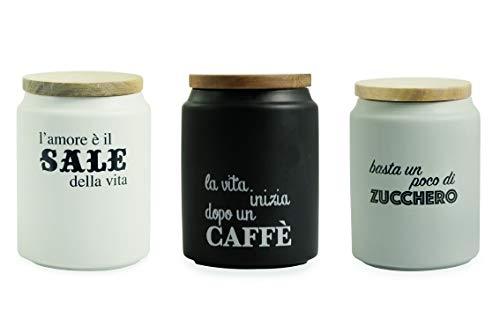 Giallo Bamboo Villa d/'Este Home Tivoli Barattolo Zucchero Porcellana Taglia Unica