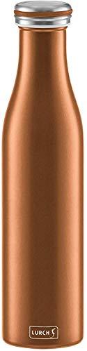 Lurch 240927 Thermoflasche Thermo-Flasche für heiße und kalte Getränke aus Doppelwandigem Edelstahl, 0,75l, 750 milliliters, Bronze-metallic
