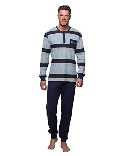 Abanderado Nightwear Men Juego de Pijama, Azul, XXL para Hombre