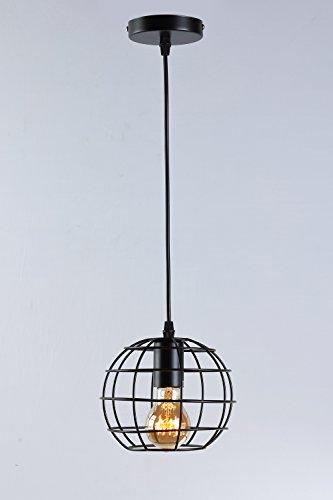 Industrial Suspension Rétro fer suspendues Lampe plafond éclairage plafonnier rond design vintage intérieur couloir cuisine Appartement Loft Éclairage d'ambiance 1 * E27 Ø18 cm
