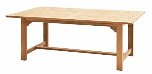 Ploß Ploß Teakholz-Tisch Pasadena - Premium Gartentisch mit FSC-Zertifikat - Terrassentisch aus hochwertigem Naturholz - Esstisch in Braun für 8 Personen - Teak-Gartenmöbel mit polierter Oberfläche