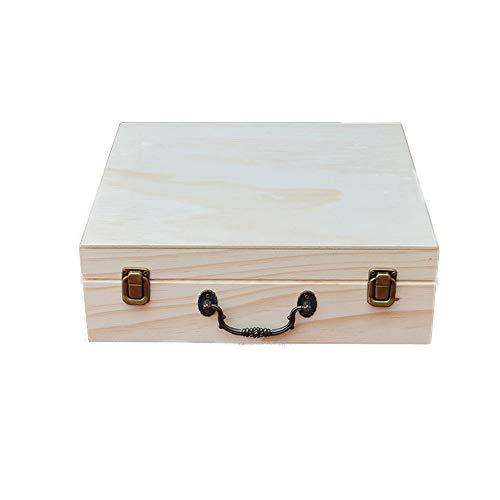 Yinglihua opbergdoos voor etherische olie, ideaal voor reizen en presentatie, 66 gleuven, houten etherische olie-opbergdoos aromatherapie-bewaardoos