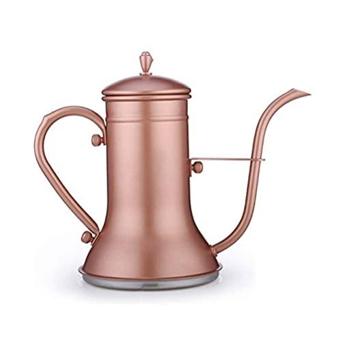 SMSOM Kettle de Cuello de Milla de Cisne de peatón - Hervidor de café de la Mano estándar de Barista para Todas Las Estufas - Trabajo en la Cocina de inducción Cerámica eléctrica de la Estufa