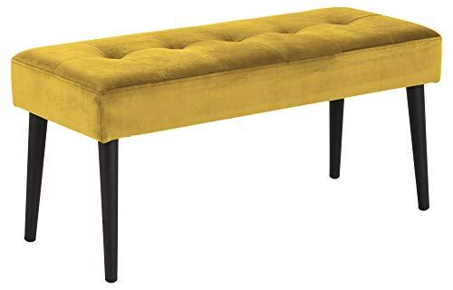 PKline Glomira Sitzbank gelb Polsterbank Dielenbank Flur Diele Essbank Esszimmer Möbel