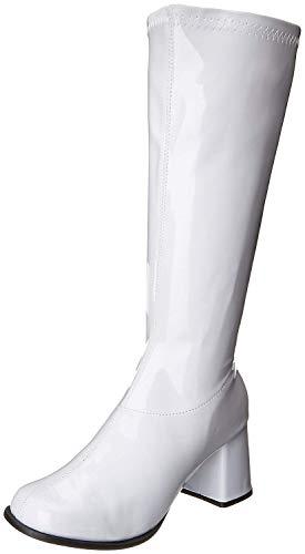 Ellie Shoes Women's Knee High Boot Fashion, White Matte, 9