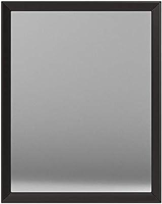 AmazonBasics Rectangular Wall Mirror 41 x 51 cm - Peaked Trim, Black