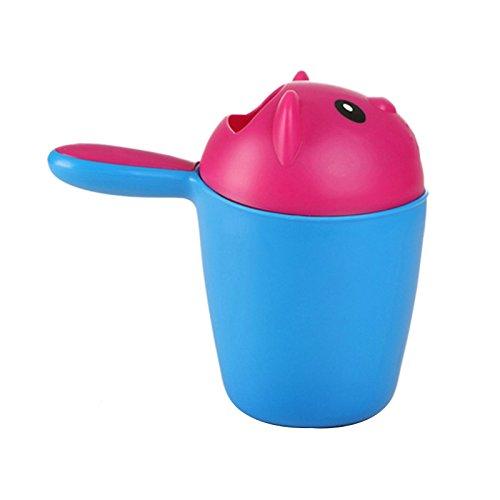 2Farben Bär Muster Baby Shampoo Tasse mit Komfort Griff Dusche Bad Waschen Schützen Eye Wasser Angemessene Design