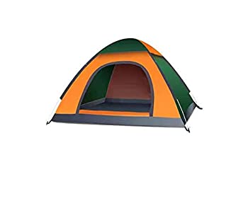 Waterproof Instant Pop Up Tent 2 Person Camping Tent Instant Set Up Camping Gear for Hiking Backpacking and Traveling  Yellow and Green