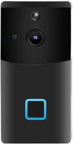 ZCZZ Timbre de Video WiFi 1080P - Cámara de Timbre de Video de visión Nocturna con intercomunicación bidireccional de Seguridad con Detector de Movimiento, Resistente a la Intemperie, almacenamie
