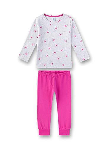 Sanetta Mädchen Pyjama Zweiteiliger Schlafanzug, Beige (Sand Melange 1952), (Herstellergröße: 128)