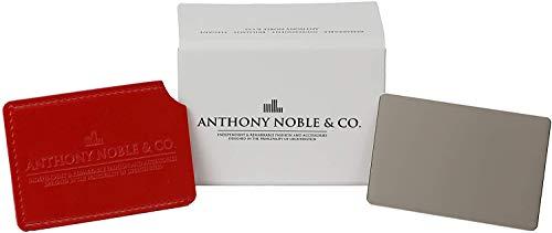 Anthony Noble & Co. Specchio Tascabile metallo in Formato carta di credito - con o senza Manico -, Specchio per controllare il trucco ovunque, indistruttibile, Specchio per Borse a Mano (Senza Manico)