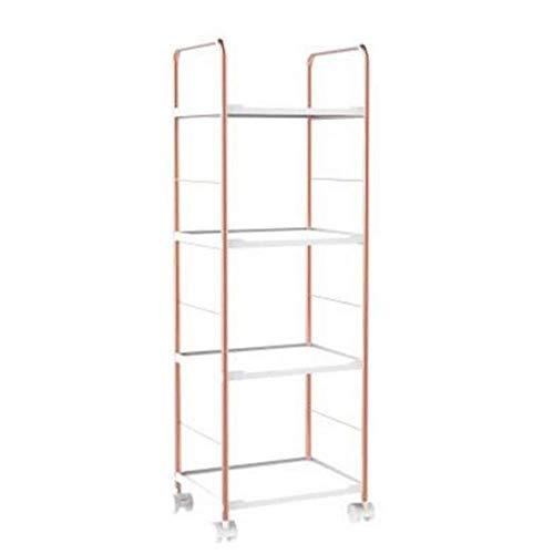 XYZX Boekenkast vloermontage Verplaatsbare riemschijf ordner rek metalen frame opbergvakken