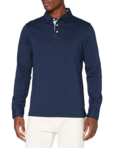 Hackett London Herren Multi Trim JSY Ls Polo-Pullover, Marine, S