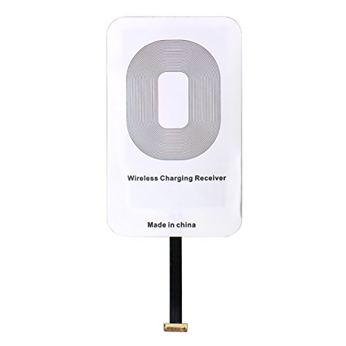 Asnlove Qi Receiver Wireless Ladegerät Micro USB Anschluss für Android Smartphone Samsung Galaxy S3/S4/S5/S6, Grand Prime, Note 2/4,Huawei Mate 8, G9, Sony Xperia Z3 +, Z5 Positive Port