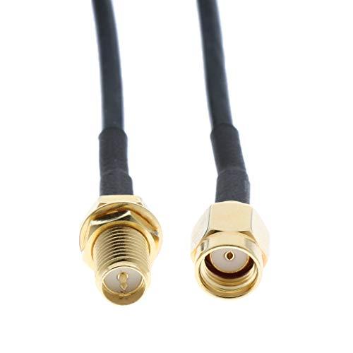 H HILABEE Cable de Extensión de Antena RP-SMA Macho a Hembra Adaptador de Antena de Enrutador WiFi 20M