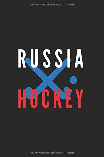 Russland Hockey Liebhaber Geschenk: Sport und Länder Notizbuch120 Seiten mit gepunktetem Papier