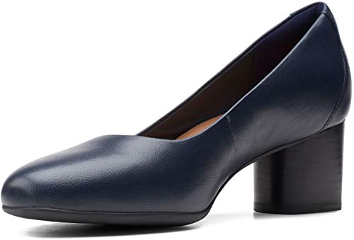Clarks Un Cosmo Dress Navy Leather 11 D - Wide